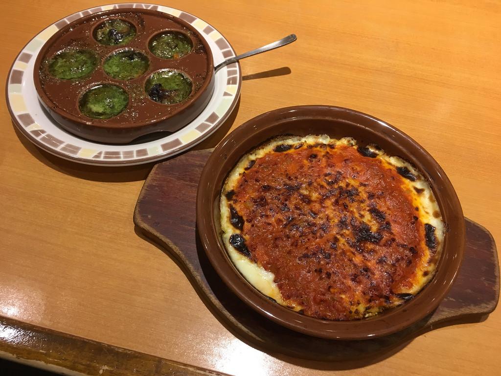 ミラノ風ドリアとエスカルゴのオーブン焼き