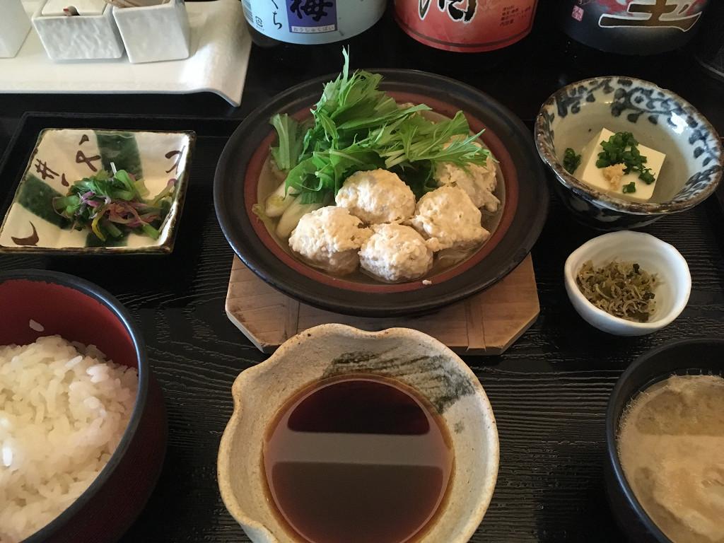 卯月 鶏つみれのハリハリ鍋定食