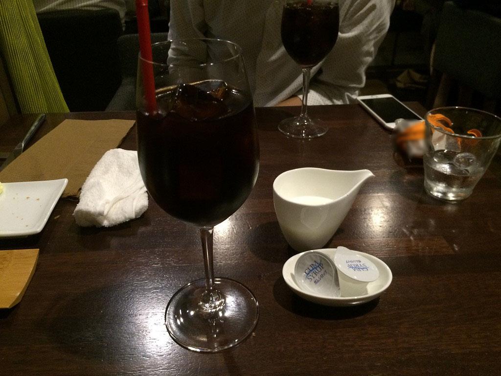 食後のアアイスコーヒー