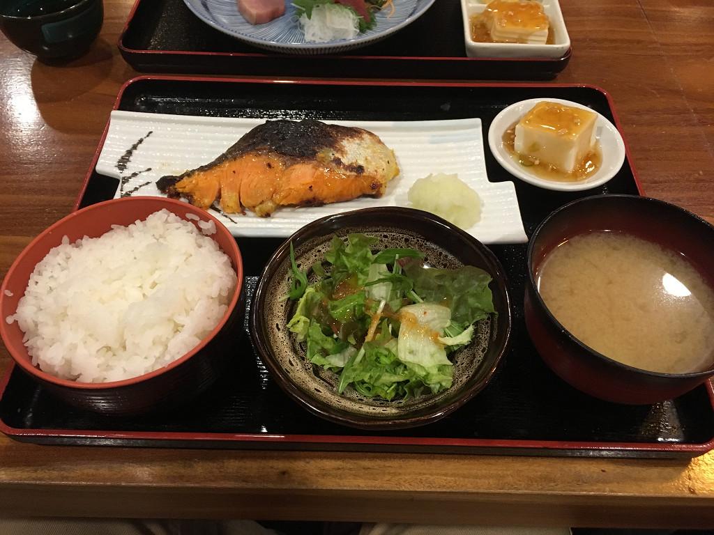 焼魚定食 キングサーモン西京焼