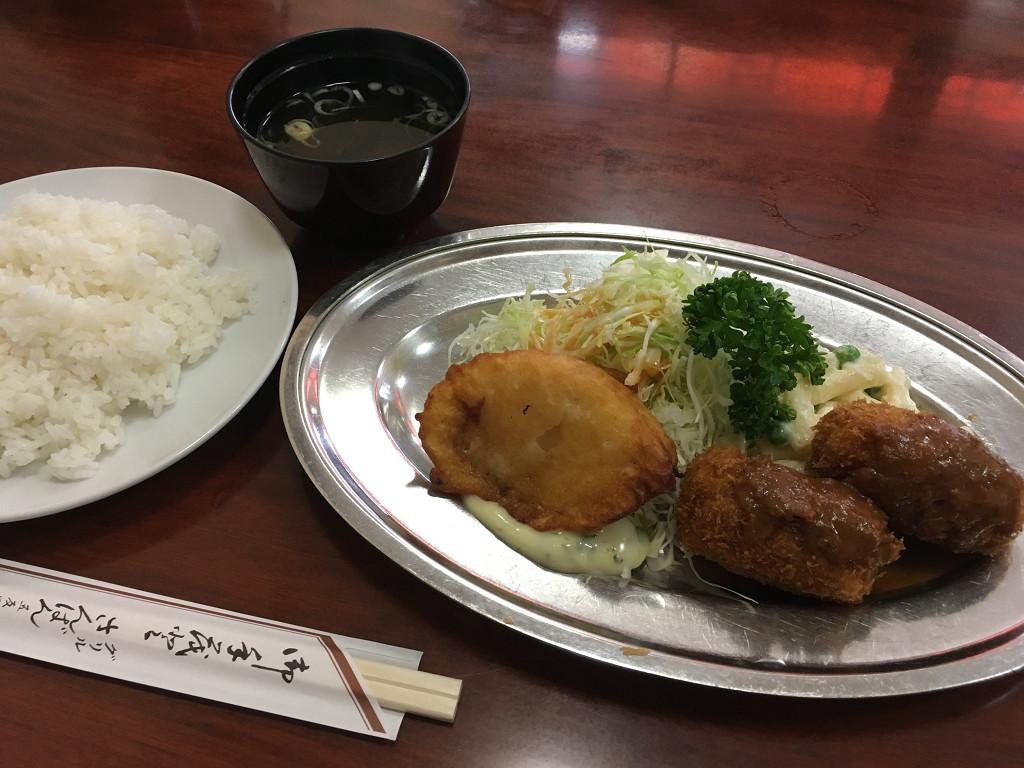日替りランチ(白身魚のフライとクリームコロッケ)