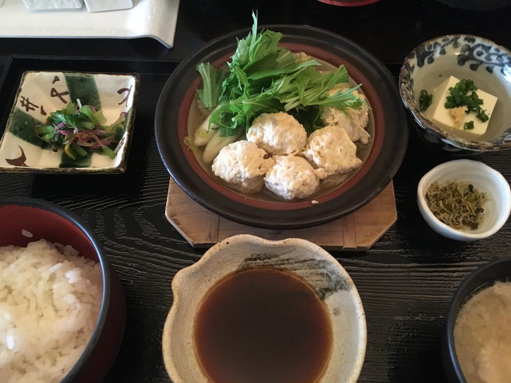 鶏つみれのハリハリ鍋定食