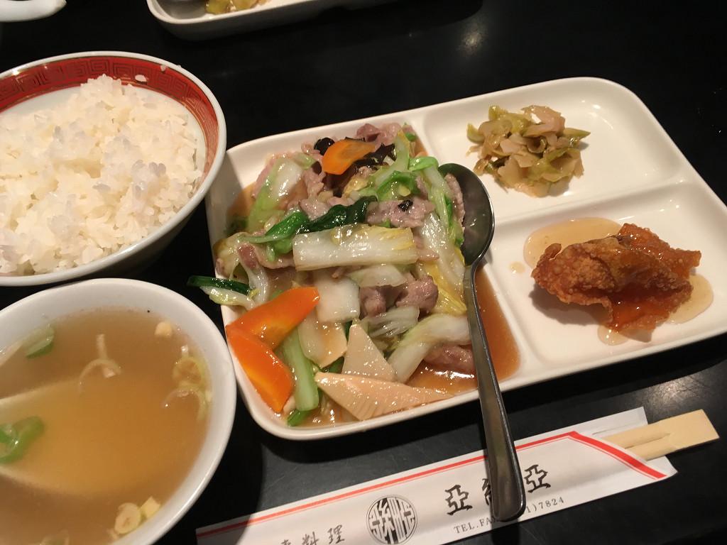 日替わりランチ(豚肉と野菜のうま煮)