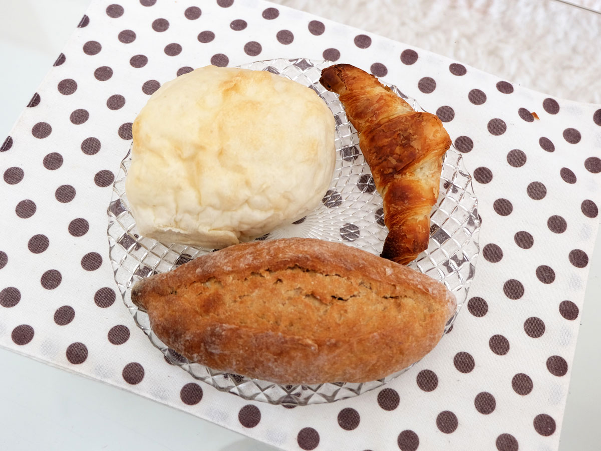 白パン、クロワッサン、ヴァイツェンミッシュブロート