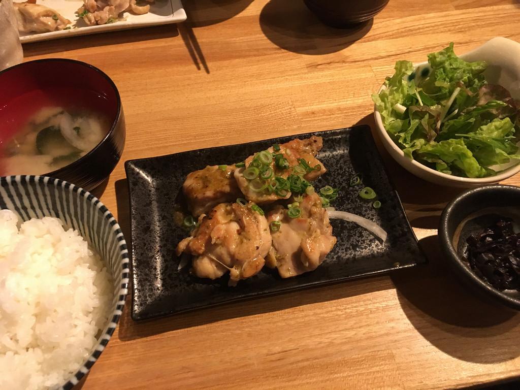 鶏とわさび香味焼き定食