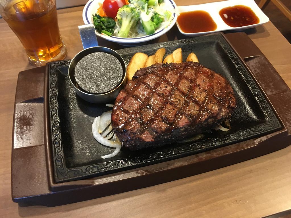 イチボの熟成赤身ステーキ 1ポンド(ステーキガスト 幡ヶ谷店 2017年4月)