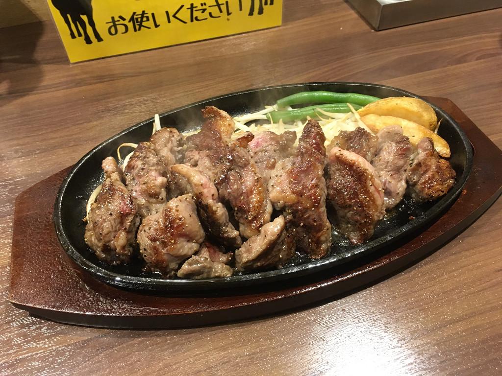 カルビステーキ 1ポンド(タケル 上野店 2017年4月)