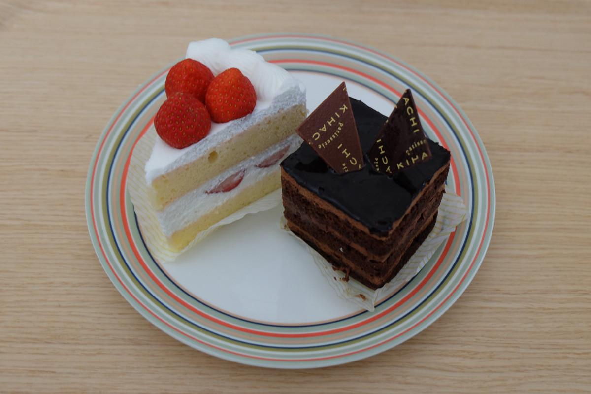 苺のショートケーキ、ガトーショコラ