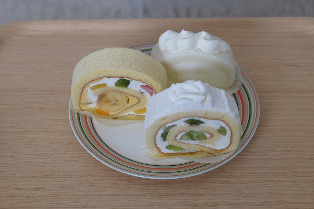 ロールケーキ各種(シャインマスカット、キハチトライフルロール、ミルクロール)