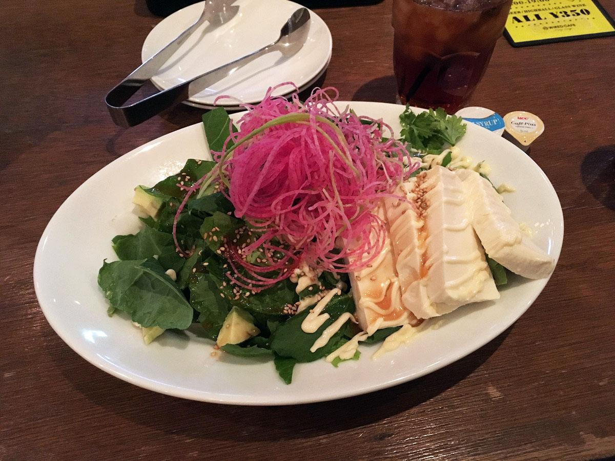 豆冨とアボカドのセサミサラダ