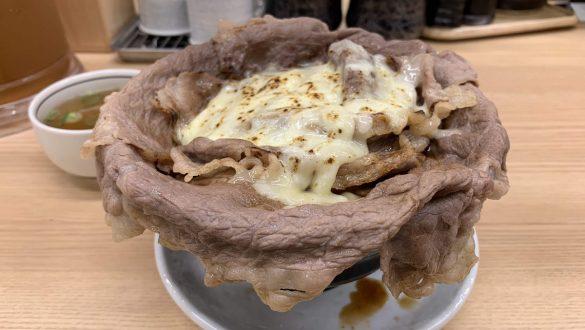 炙りチーズ牛しゃぶすきめし スープ付き