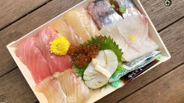新鮮な魚が使われているちらし鮨(2020年9月)