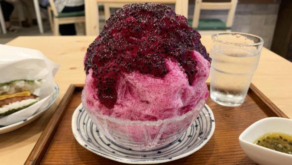 ドラゴンフルーツかき氷 (2020年9月)